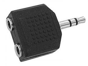 3,5mm Han till 2 x 3,5mm Hon Stereo Adapter