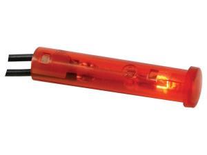Kontrollampa 7mm 12V, röd