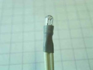 Miniatyr lampa 12V, 60mA Ø 3mm