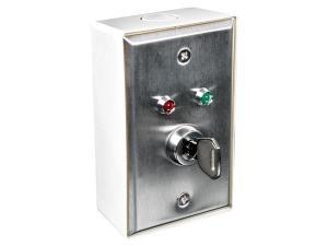 Kontrollbox med lås och indikering