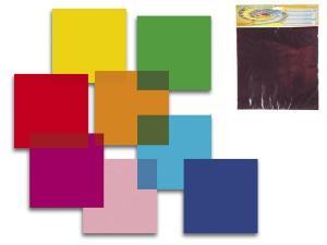 Färgade filterark 8 st