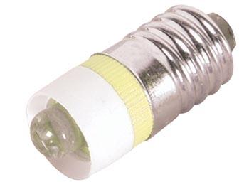 LED-lampa E10 5mm 12V, Gul