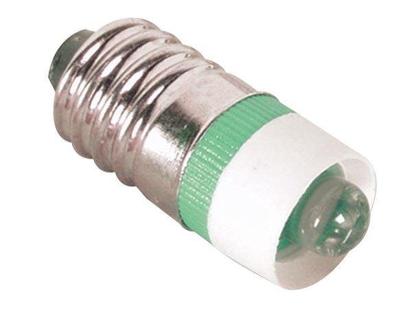 LED-lampa E10 5 mm 12 V, Grön