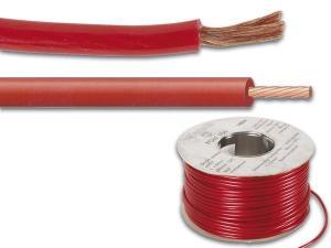 Högtalarkabel / DCkabel 1 x 6mm², Röd Metervara