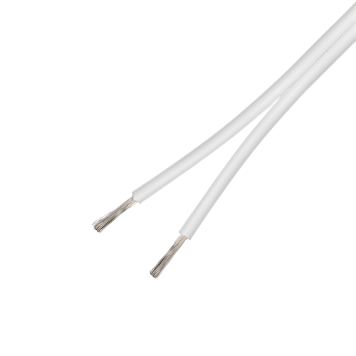 Högtalarkabel 2 x 2,5mm² Vit, Metervara