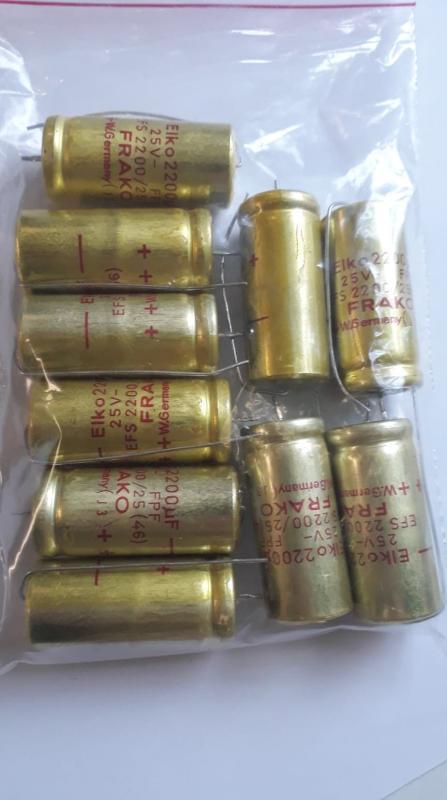 Elektrolyt kondensator 2200uF 25V 10 st