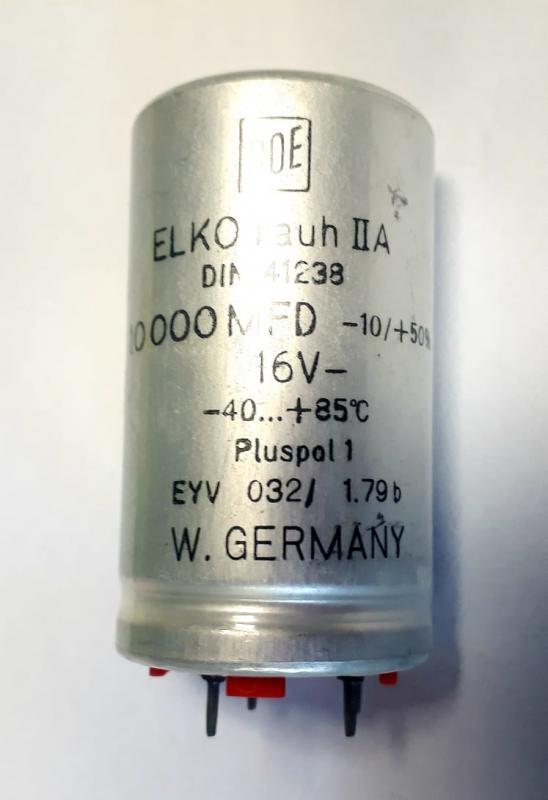 Kondensator 10000uF 16V 4 stift