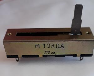 Skjutpott utan Knopp, 10 KOHM, 50mm