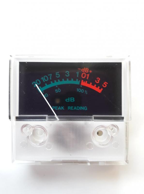 Indikator instrument  VU-meter  54 x 50 mm