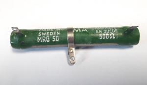 Emaljerat trådmotstånd, MRG50 500 Ohm