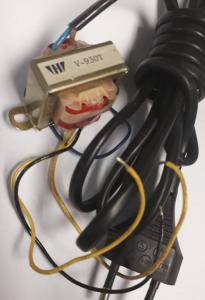 Transformator  230V - 9V 0,1A - 9V 0,1A - 11V 0,05A