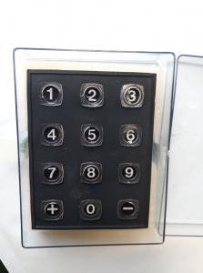Tangentbord siffror,  Secme 3 x 4 i Plastbox