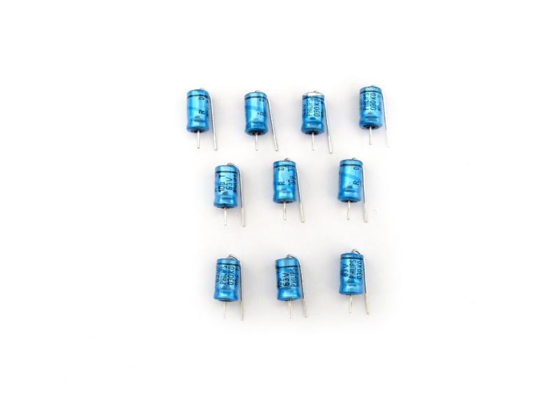 Kondensator 10uF 63V, Elektrolyt 10st