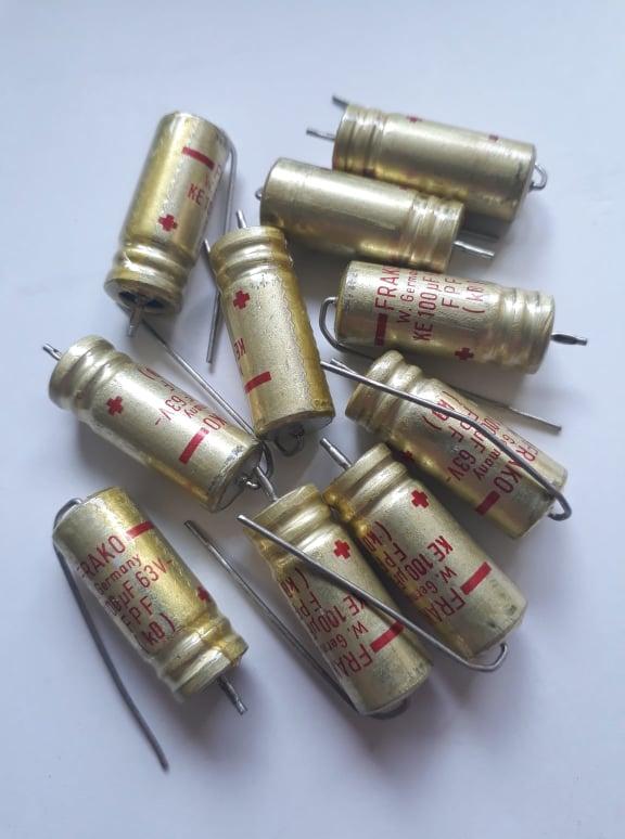 Kondensator 100uF 63V Elektrolyt 10st