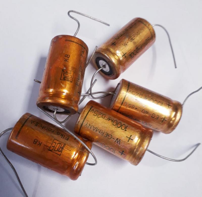 Kondensator 1000uF 25V  5-pack
