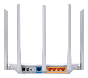 Trådlös WI-FI Router Dual band, 5 antenner