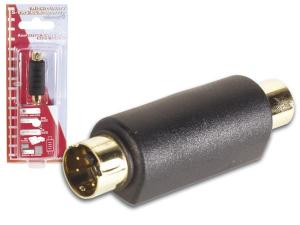 S-VHS 4 pol mini din Han - RCA Hon Adapter