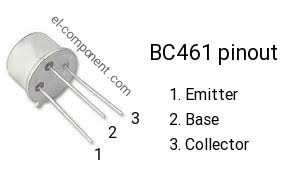 BC 461 Bipolär (BJT) singeltransistor