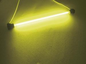 Fluorescerande glaslysrör, 100 mm Gul