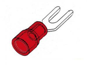 Kabelsko Gaffel 5.3mm, röd 10-pack