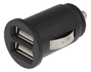 Billaddare USB x 2 , 2,4A 12/24V