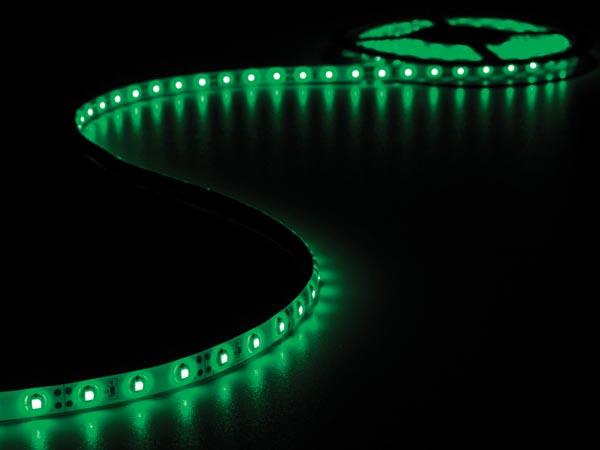 Grön LEDstrip, 12V,  5 Meter