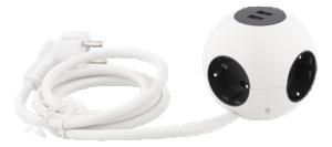 Grenuttag kulformat med  4 uttag + USB