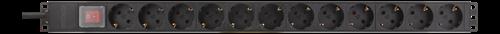 Grenuttag 12 x CEE uttag, med strömbrytare