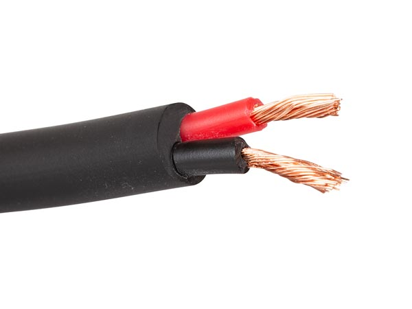 Högtalarkabel / DC kabel 2 x 1.50mm² , Svart / Metervara