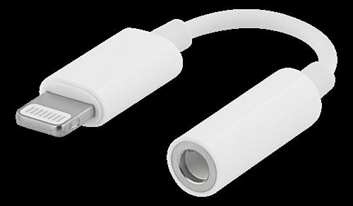 Apple Lightning till 3,5mm-adapter för hörlurar/headset, vit