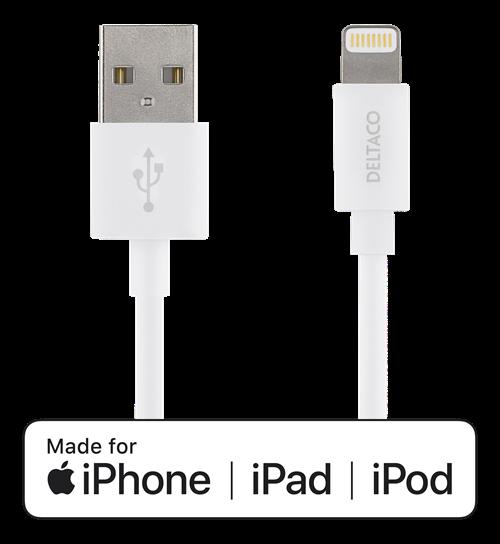 USB-synk-/laddarkabel till iPad, iPhone och iPod lightning