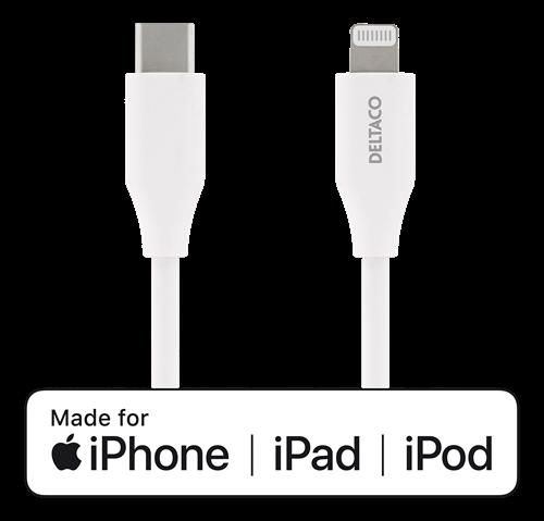 USB-C till Lightning kabel, 1 Meter
