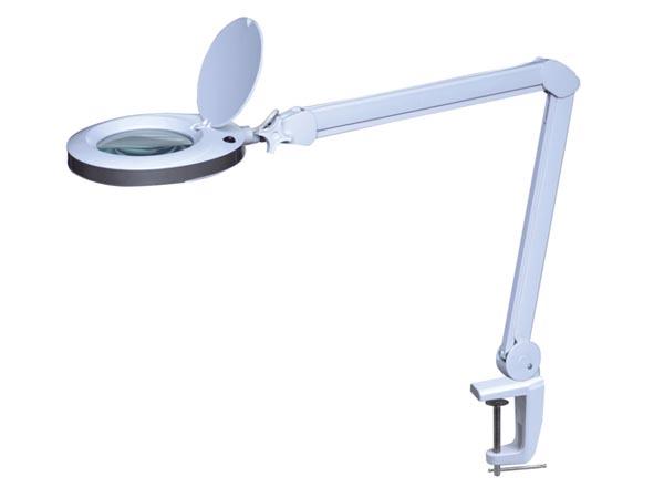 Lampa med förstoringsglas - LED - Bordsfästning