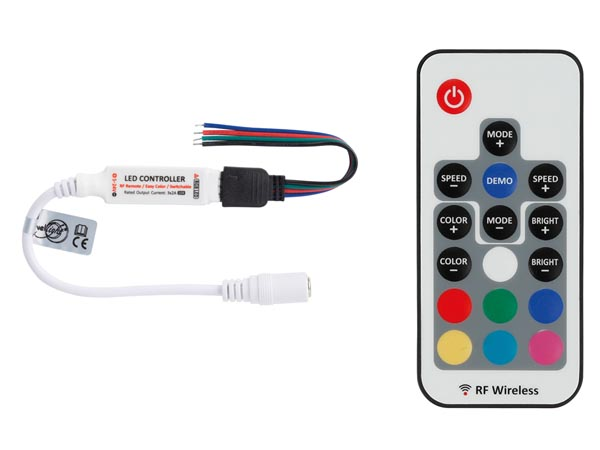 Mini enkanal RGB LED RF kontroll med RF- fjärrkontroll