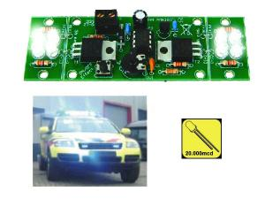 Blixtljus 2-kanals högeffekts LED, MK180
