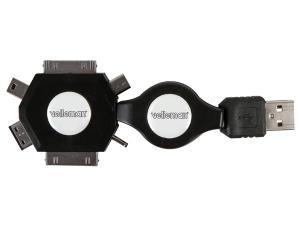 6st i 1 adapter USB utdragbar laddkabel 53 cm