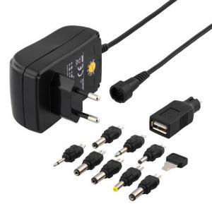 Batterieliminator / Nätadapter  3-12VDC, 1.5A