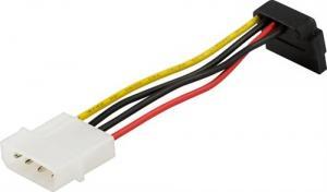 SATA strömkabel för hårddiskar, vinklad kontakt