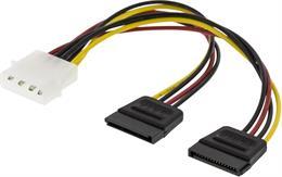 Y-strömkabel för 2 x Serial ATA hårddiskar