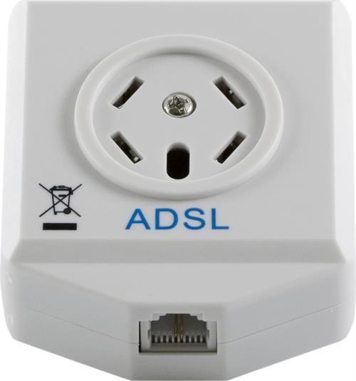 ADSL Splitter för ADSL/ADSL 2+, modem/router