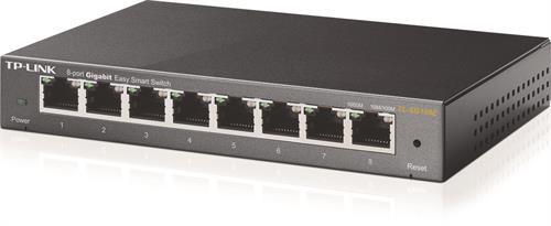 Nätverksswitch, 8-ports RJ45, auto MDI/MDIX, QoS, Fläktfri, Metallhölje