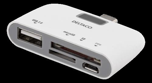 USB-C SD-kortläsare och laddningsport