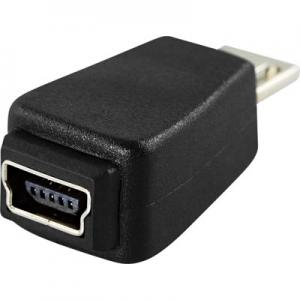 USB-adapter Typ Micro-B han - Typ Mini B hon