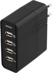 Väggladdare med 4 USB-porta 5V, 7A