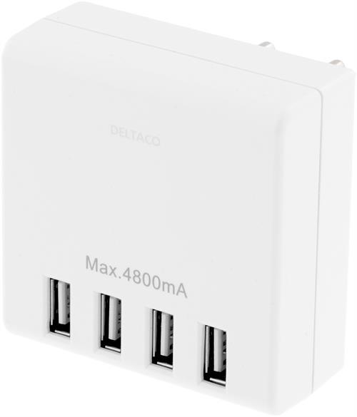 USB väggladdare, 4800 mA