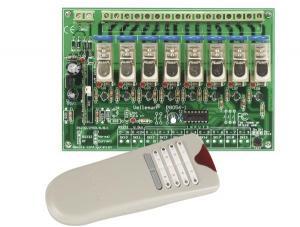 Fjärrkontrollsats för 8 kanaler RF, VM118