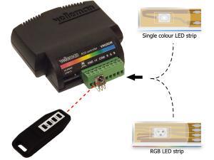 Trådlös RGB Led styrning med IR sensor VM192IR