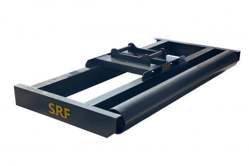 Avjämningsbalk med rulle - 2000mm - S45 - (220 mm rulle)