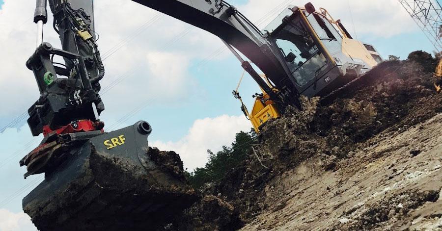 Grävskopa grävmaskin