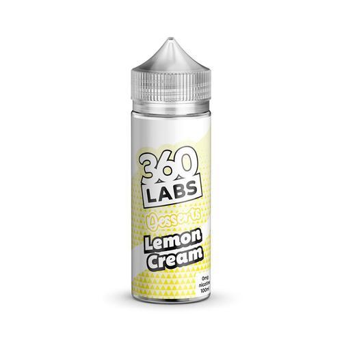 360 LAB Lemon Cream 100 ML 0MG